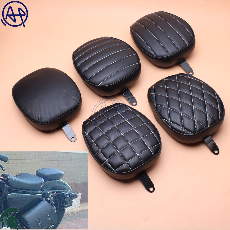 5 Styles Motorcycle Fender Seat Rear Passenger Seat Cushion Tail Pillion Pad For 1pcs Harley 48 Sportster 1200X 1200V 2012-15