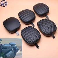5 Styles Motorcycle Fender Seat Rear Passenger Seat Cushion Tail Pillion Pad For 1pcs Harley 48 Sportster 1200X 1200V 2012 15