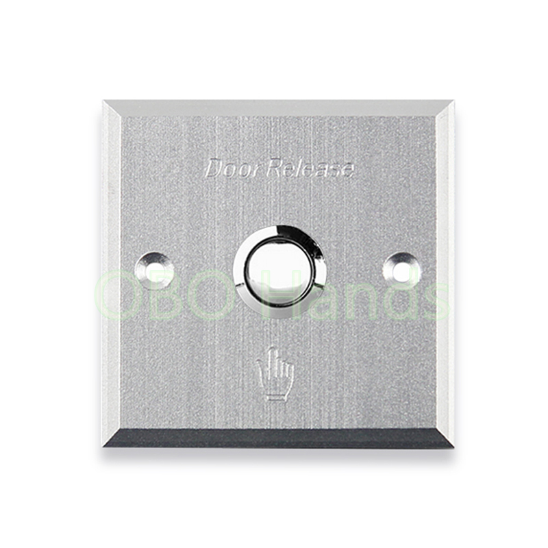 Aluminium alloy metal door exit button switch door release for electric lock Access Control system switch for security alarm alloy cover touch door exit for door access control system
