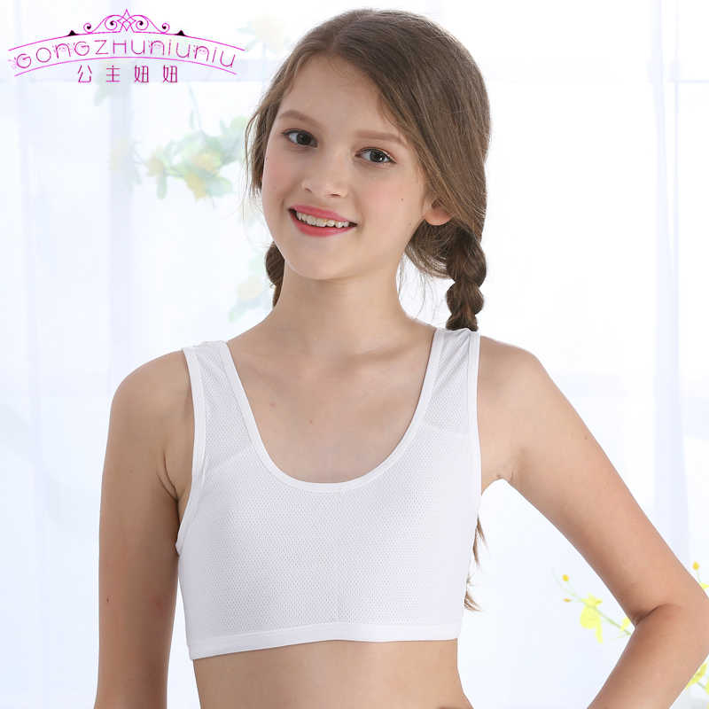 b4804859aa Detail Feedback Questions about Gongzhuniuniu Teenager Young Girl Spandex Vest  Bra Student Breathable Sports Underwear Top Clothing on Aliexpress.com ...