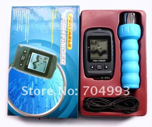 New Free Scan Transducer Portable Handheld Fish Finder Used On Ice Sonar Fish Finder