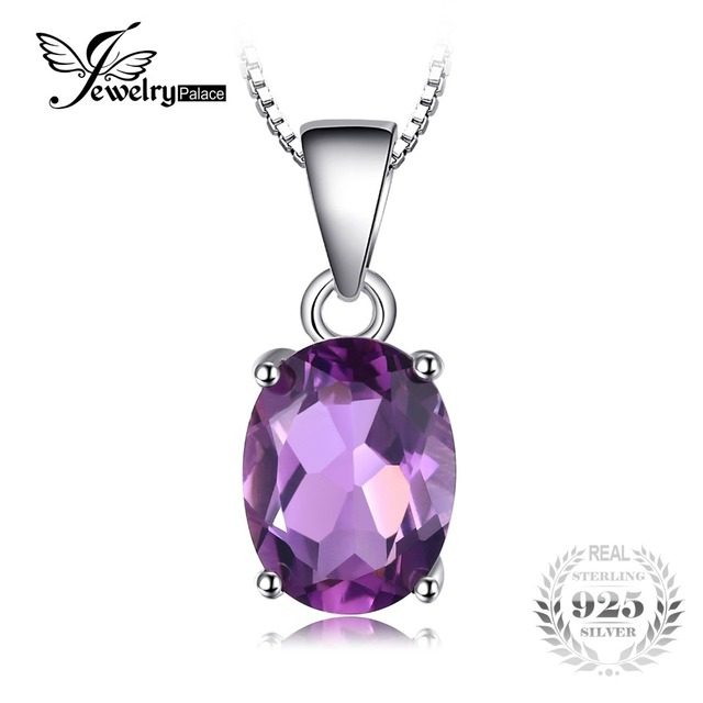 Jewelrypalace natural 17ct amethyst pendants oval cut genuine jewelrypalace natural 17ct amethyst pendants oval cut genuine solid 925 sterling silver fashion purple jewelry mozeypictures Images