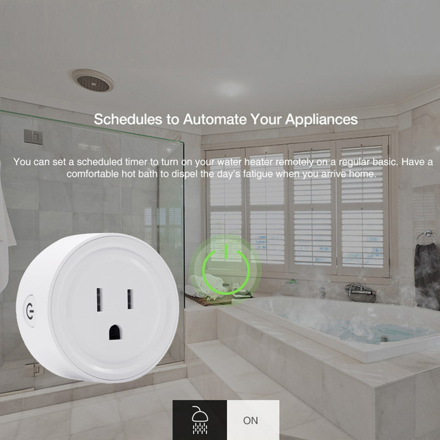 Regulowana moc uniwersalny inteligentny Mini wtyczka Wi-Fi wylot przełącznik przełącznik pracy z Echo Alexa Google domu zdalnego ue wysokiej jakości domu 5