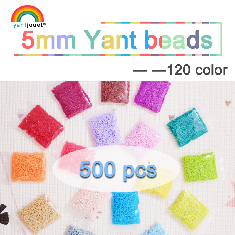 5mm yant jouet 500pcs 120 color beads for kids hama beads perler beads diy Puzzles high quality Handmade gift toy(China)