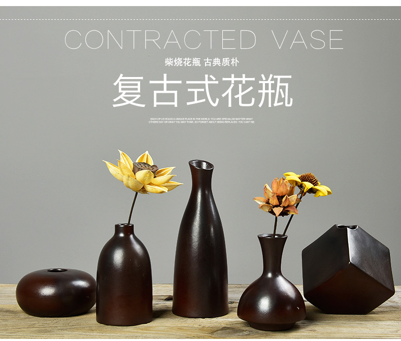 online kaufen gro handel schwarze blume vase aus china. Black Bedroom Furniture Sets. Home Design Ideas