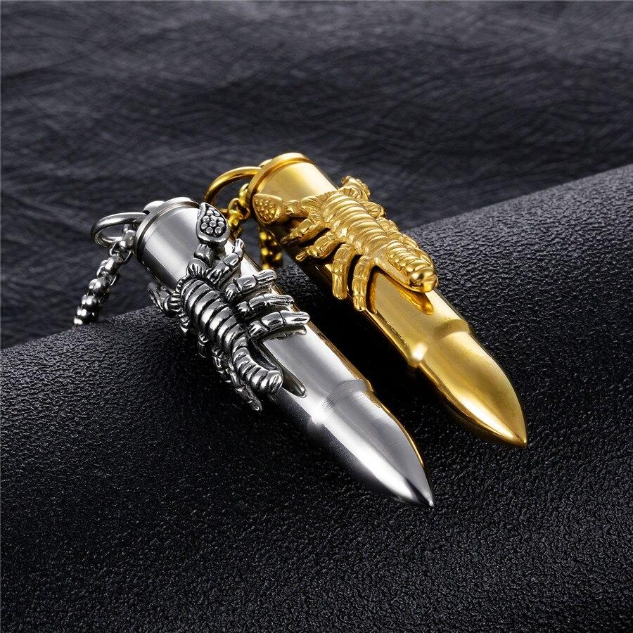 Men/'s vintage Scorpion Balle Collier Pendentif 316 L En Acier Inoxydable Bijoux Cadeau