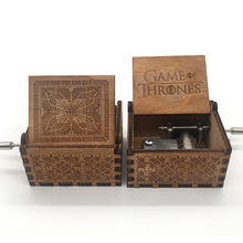 цены Antique Carved Music Box Game of Thrones Music Box Star Wars Wooden Hand Crank Theme Music box