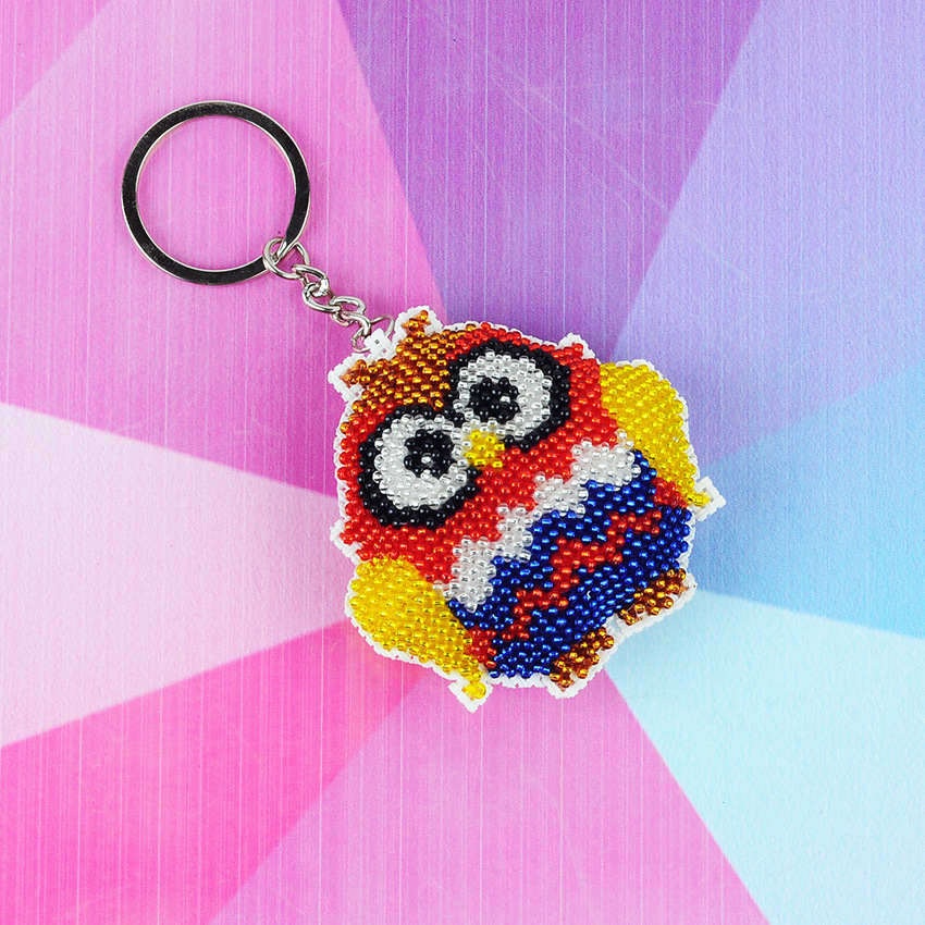 Diy Beads Toys Owl Handmade Embroidery Cross-stitch Little Ornament With Beaded Bags Key Chain Adult Children Gifts Wholesale