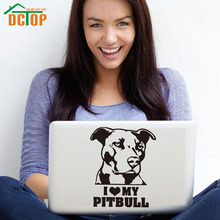 DCTOP I Love My Pitbull Removable Vinyl Art Stickers Computer Decoration DIY Wall Decals Home Decor Waterproof блюдо декоративное home philosophy 28 см i love my home 402171