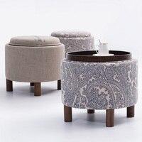 EMS Leisure Tea Table Lockers Multi Purpose Furniture Solid Wood Furniture Cloth Art Wood Sofa Corner