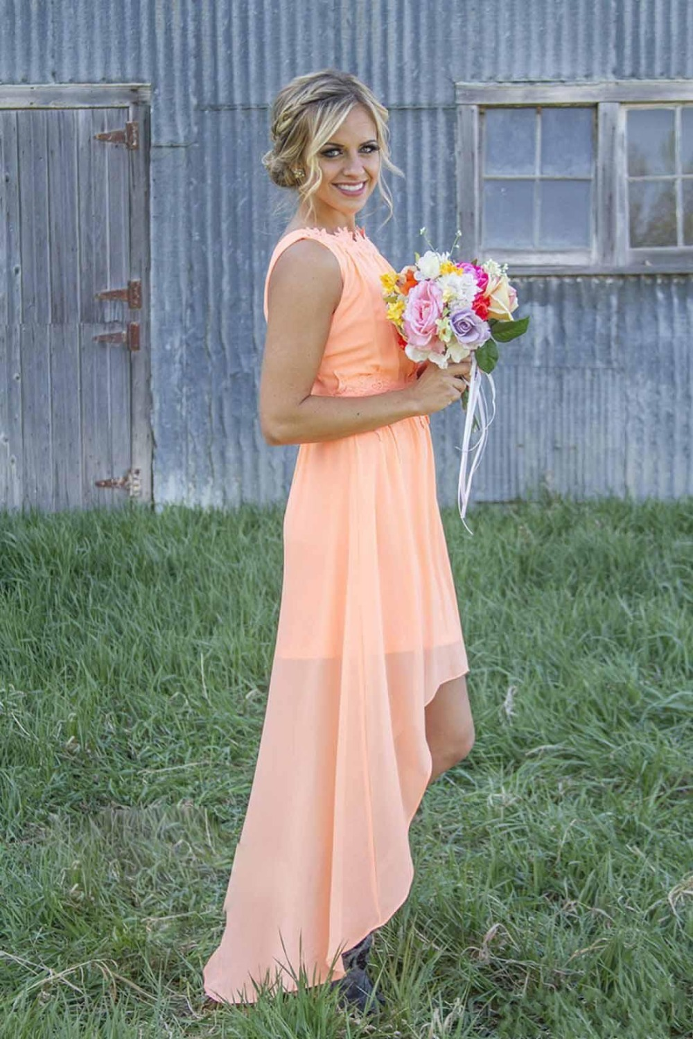 2016 mint orange country cheap bridesmaid dresses for wedding 2016 mint orange country cheap bridesmaid dresses for wedding under 100 hi lo chiffon junior beach short party dress in bridesmaid dresses from weddings ombrellifo Image collections