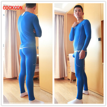 COCKCON Winter Men Long Johns Thicken Mens Thermal Underwear Sets Plus Velvet Warm Long John O-Neck Thermal Undershirts Trousers