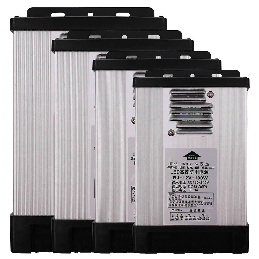 Rainproof Power Supply Led Switch Transformer Driver DC12V/24V/5V 400W For Outdoor Letter Led Strip CCTV Advertisement Adapter