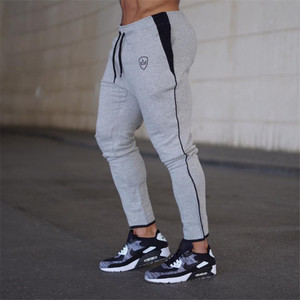 Image 3 - YEMEKE 2019 Cotton Men full sportswear Pants Casual Elastic Mens Fitness Workout Pants skinny Sweatpants Trousers Jogger Pants