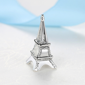 Silver Plated Beads Travel Eiffel Tower Camera Pendant Charms Fit Original Pandora Bracelets Women DIY  4