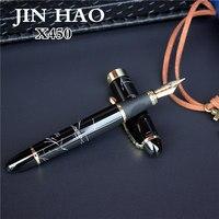 Genuine JIN HAO X450 Advanced Fountain Pen 18K GP Nib Ink Pen 21 Colors Can Choose