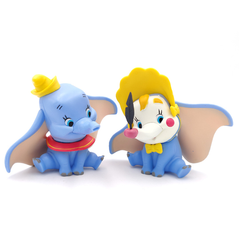 2019 Movie 10CM Dumbo Elephant Dumbo Posture Anime Decoration PVC Action Figure Toys Model For Children Kid Birthday Party Gift