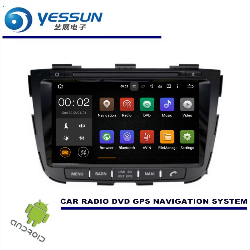 YESSUN Wince / Android Car Multimedia Navigation System For Kia Sorento 2013~2014 CD DVD GPS Player Navi Radio Stereo HD Screen цена