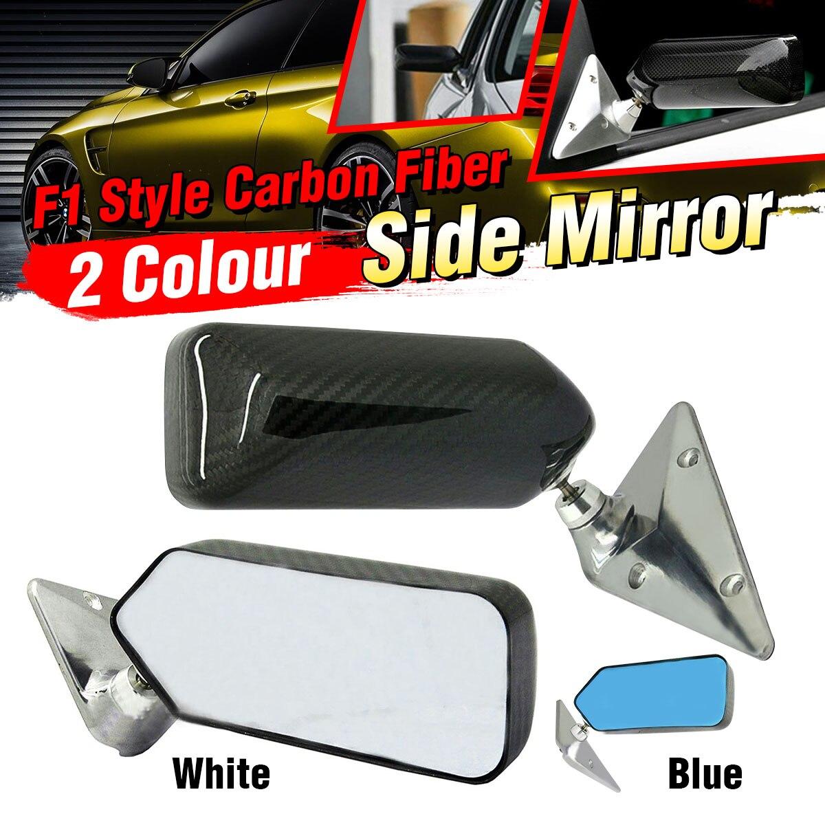 2 pièces blanc/bleu fibre de carbone Look universel voiture rétro rétroviseur rétroviseur latéral rétroviseur pour Benz pour BMW pour VW