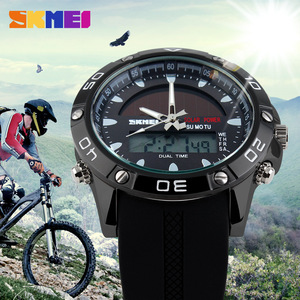 Image 5 - New Energy Solar Watch Men Digital Sports LED Men Watches Solar Dual Display Watches Men Watch Sports Military Wriswatch Relojes