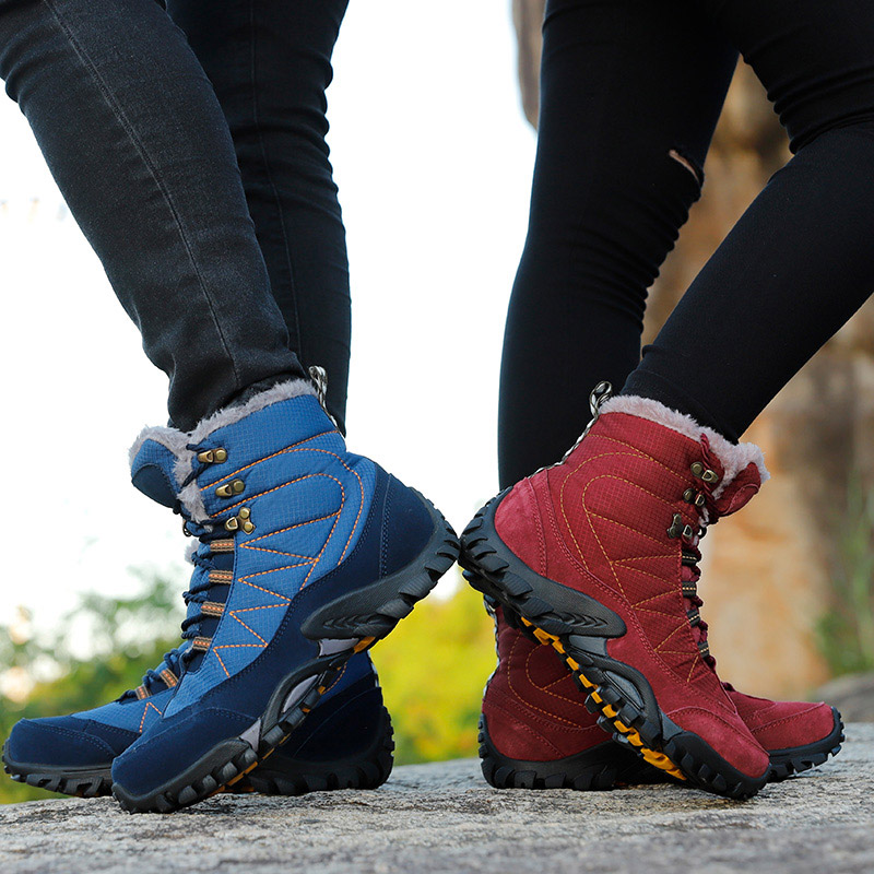 Shoes Trekking Hiking-Boots Mountain-Sepatu Climbing Outdoor Waterproof Zapatillas Woman