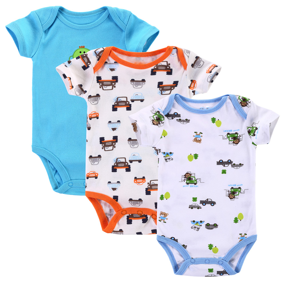 Near Cutest 3pcs/lot 2017 Baby Boys Girls Clothes Infant Clothes Animal 100% Cotton Newborn Baby Rompers Baby Clothing Set cotton baby rompers set newborn clothes baby clothing boys girls cartoon jumpsuits long sleeve overalls coveralls autumn winter