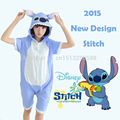 2016 New Arrival Fashion Anime Unisex Adult Animal Pajamas Blue Lilo Stitch Onesies Cosplay Costume Sleepwear Free Shipping