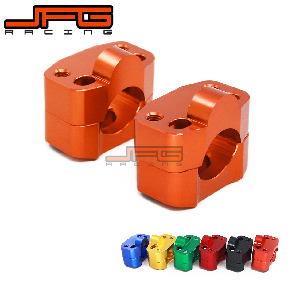Billet Aluminium Handlebar Riser Clamp Bar Mount Adaptor Adapter For Pit Dirt Bike Motorcycle Change 22 To 28mm 1-1/8 Orange