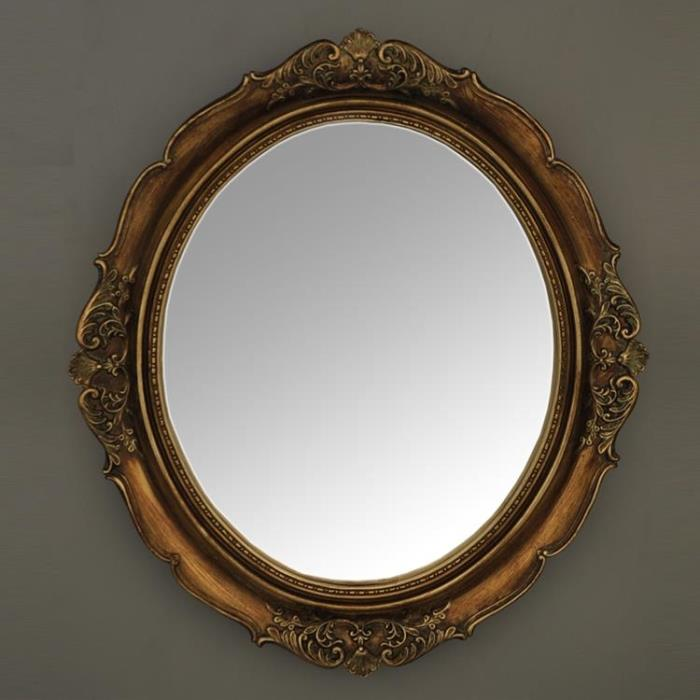 American European Bathroom Mirror Bathroom Mirror Decorative Wall Frame  Vintage Oval Vanity Mirror Mirror Entrance-in Other Bathroom Furniture From
