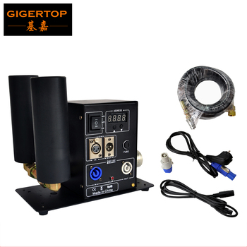 Livraison gratuite TIPTOP nouvelle double buse Co2 Machine Jet stade dioxyde de carbone projecteur interrupteur marche/arrêt laiton raccord 6 m tuyau de gaz