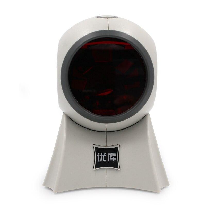 Бесплатная доставка всенаправленный многоканальный лазерный считывания штрих-кодов YK-8120 USB интерфейс