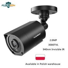 FLOUREON 1080P HD 3000TVL חיצוני אבטחת מערכת מצלמה 2MP 940nm ראיית לילה CCTV מעקב PAL Bullet מצלמה עבור AHD DVR