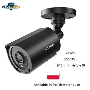 Image 1 - FLOUREON 1080P HD 3000TVL חיצוני אבטחת מערכת מצלמה 2MP 940nm ראיית לילה CCTV מעקב PAL Bullet מצלמה עבור AHD DVR