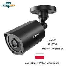 FLOUREON 1080P HD 3000TVL Outdoor Beveiligingssysteem Camera 2MP 940nm Nachtzicht CCTV Surveillance PAL Bullet Camera voor AHD DVR