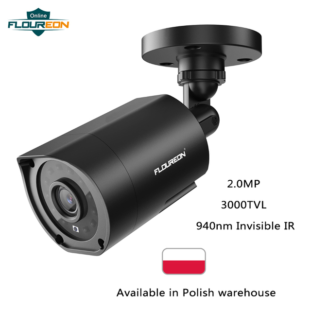 FLOUREON 1080P HD 3000TVL Outdoor Security System Camera 2MP 940nm Night Vision CCTV Surveillance PAL Bullet Camera for AHD DVR