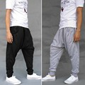 New Fashion Hip Hop Harem Pants Mens Joggers Street Dance Loose Trousers Casual Sweatpants M-XL