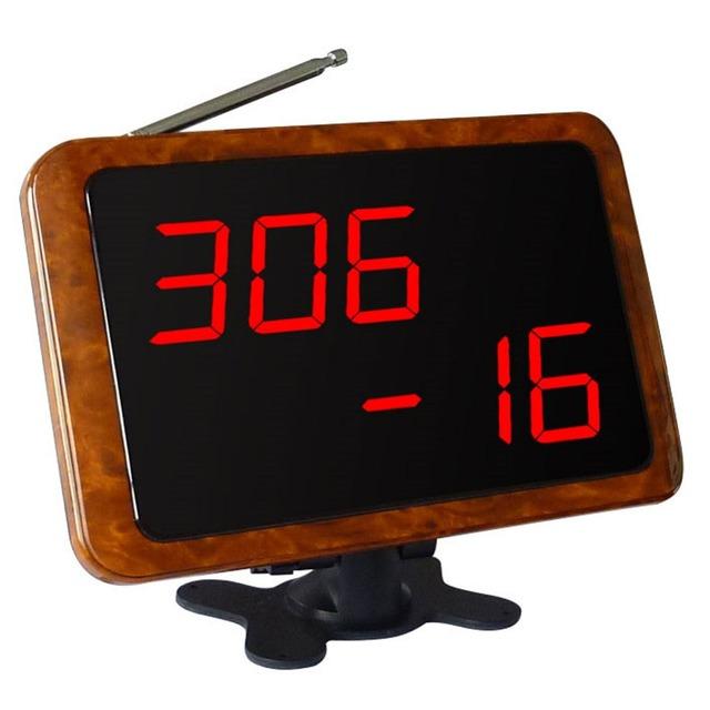 Singcall, wireless camarero sistema de llamada para el hospital, aeropuerto, baño, cine, madera color APE1900