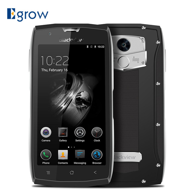 Original Blackview BV7000 Fingerprint MT6737T Quad Core Mobile Phone 5.0'' Android 7.0 Cell Phones 2G RAM 16G ROM Smartphone
