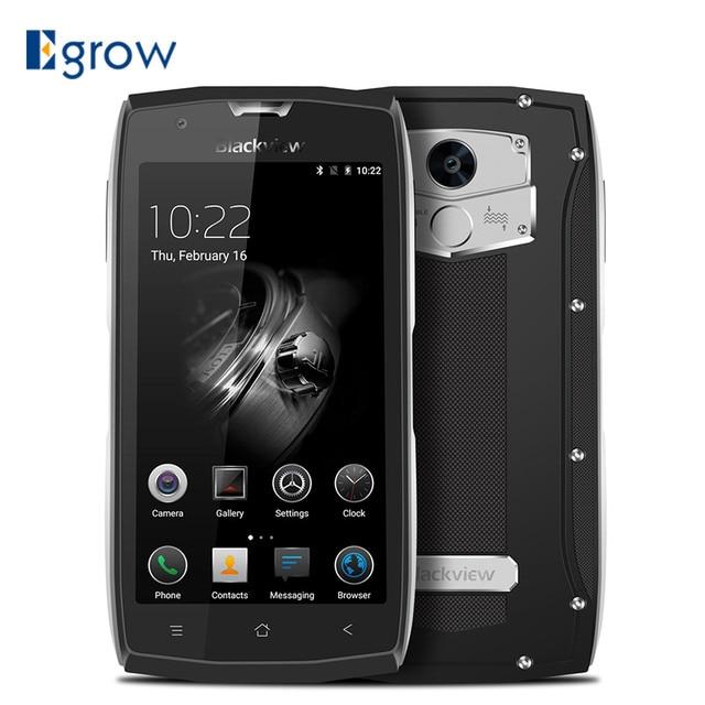 Original Blackview BV7000 Fingerprint MT6737T Quad Core Mobile Phone 5.0'' Android 7.0 Cell Phones 2G RAM 16G ROM Smartphone