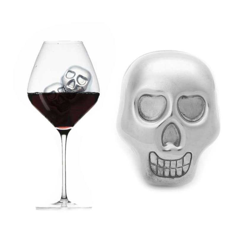 NEW Stainless Steel Skull Ice Cube Cooling Beer Whisky Wine Cocktail Cooler Bar Tool