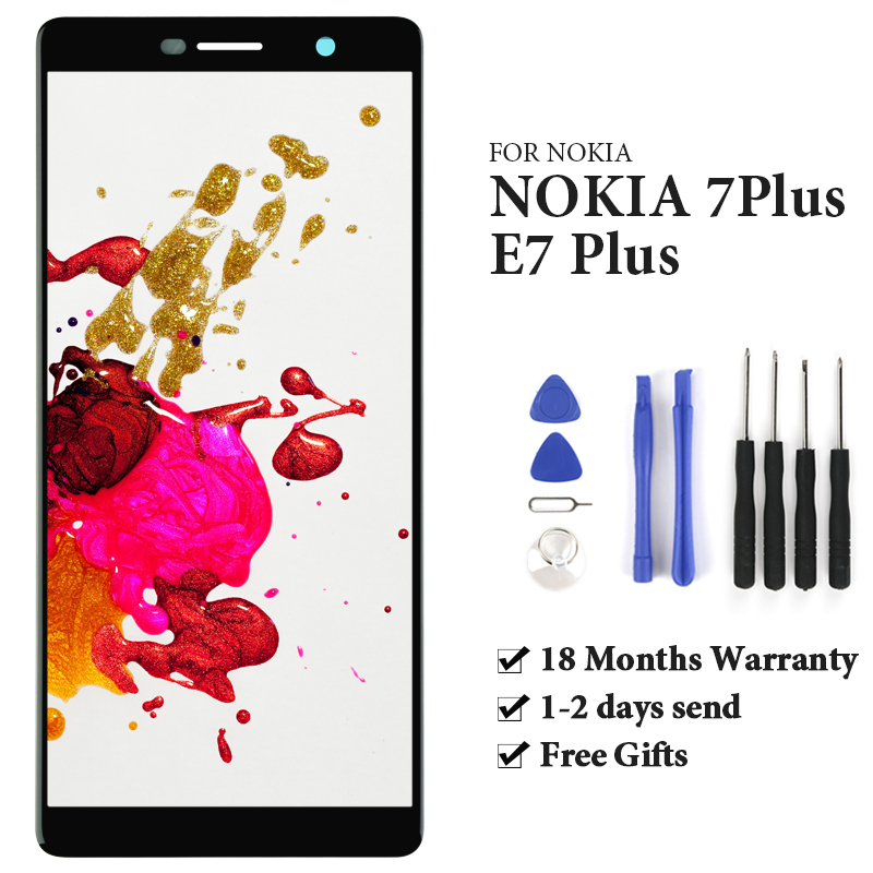 Grade For Nokia 7 Plus LCD Display With Touch Screen Assembly Replacement No Dea