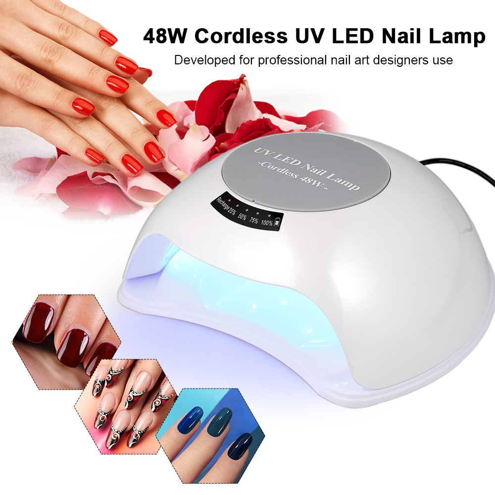 Schönheit & Gesundheit 48 Watt Cordless Uv Led Nagel Lampe Wiederaufladbare Nagel Gel Trockner Fingernagel & Zehennagel Gel Aushärtung Maschine Nail Art Malerei Us/eu/uk Stecker In Vielen Stilen