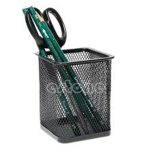 Black metal Rectangular Mesh Style Pen Pencil Holder Office accessories Desk Organizer Container supply-PC Friend