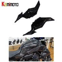 KEMiMOTO For Yamaha MT 07 MT07 Gas Tank Side Cover Trim Panel Fairing Real Carbon Fiber