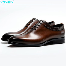 New Genuine Cow Leather Shoes Men Formal High Quality Dress Shoes Oxfords Black Brown Splice Lace-up Designer Shoes brand handmade genuine leather shoes men dress oxfords shohes lace up men shoes new fashion designer brown flat male