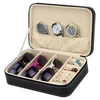 New Fashion Sunglasses Watch Display Box Luxury Watch Box Case Jewelry Leather Jewelry Box Organizer Storage Packaging Display