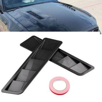 Karbon fiber Hood Tahliye Panjur Paneli Trim Mat ABS Evrensel tüm araçlar için