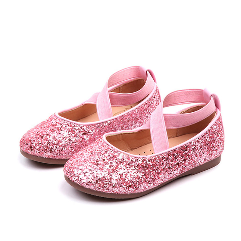 Girls Ballet Flats Baby Dance Party Girls Shoes Glitter Children Shoes Gold Bling Princess Shoes 3-12 Years Kids Shoes