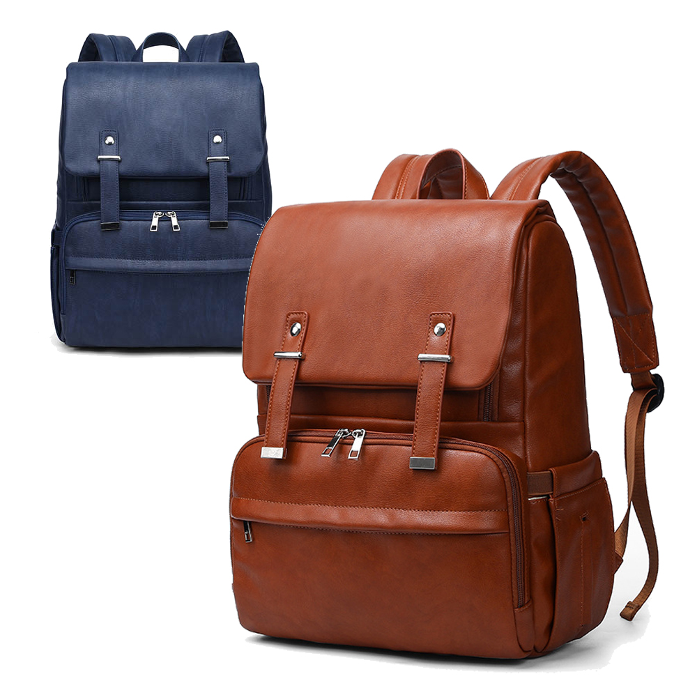New Unisex Fashion Quality Pu Leather Baby Diaper Bag