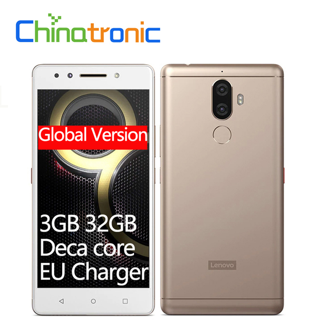 "Global Lenovo K8 Note XT1902-3 3GB 32GB 4G FDD LTE Mobile Phone 5.5""FHD Helio X23 Deca core 2.3G Dual Back Camera 4000mAh"